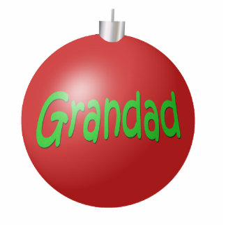 Grandad Christmas Ornament Photo Sculpture Decoration
