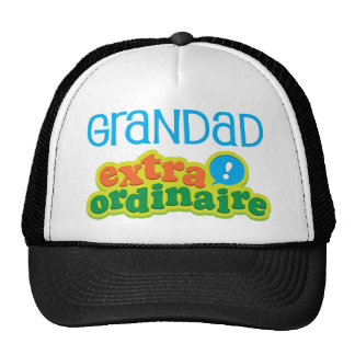 Grandad Extraordinaire Gift Idea Mesh Hats