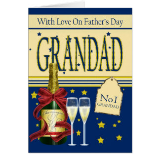 Grandad, Father's Day Card - Champagne