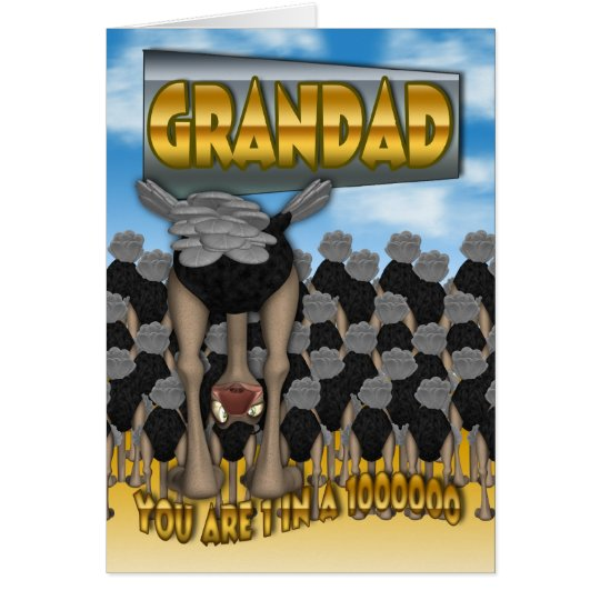 Grandad Father's Day Card - You Are 1 In a 1000000
