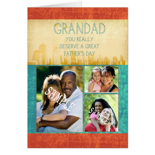 Grandad Father's Day Card Your Photograph Here