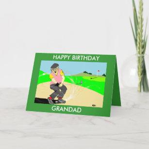 Grandad Funny Golfing Birthday Card
