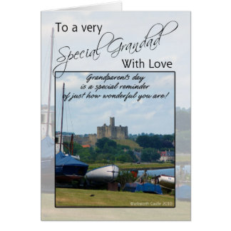 Grandad, Grandparents Day Card - Warkworth Castle