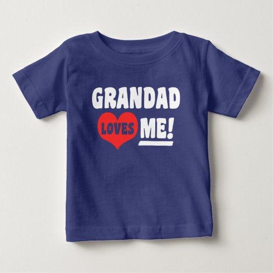 Grandad Loves Me Baby T-Shirt