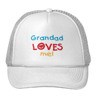 Grandad Loves Me T-shirts and Gifts Trucker Hats