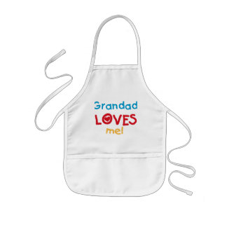 Grandad Loves Me T-shirts and Gifts Kids Apron
