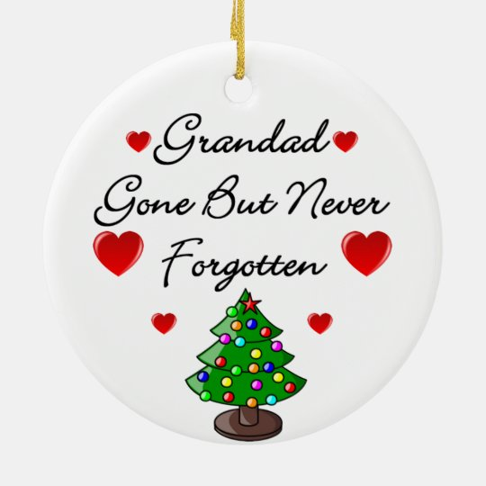Grandad Memorial Christmas Tree Ceramic Decoration