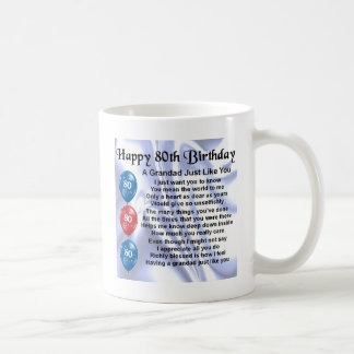 Grandad poem - 80th Birthday Design Coffee Mug