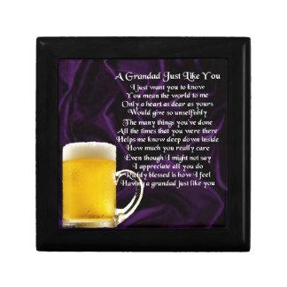 Grandad poem - Glass of Beer Design Gift Box