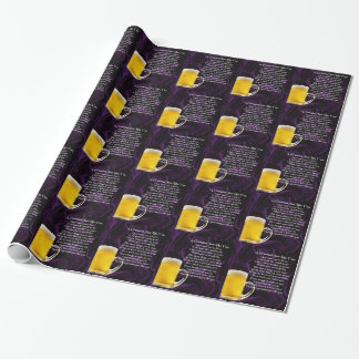 Grandad poem - Glass of Beer Design Wrapping Paper