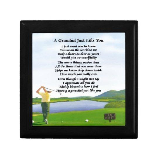 Grandad Poem - Golf Gift Box