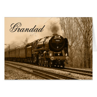 Grandad Steam Train Birthday Card