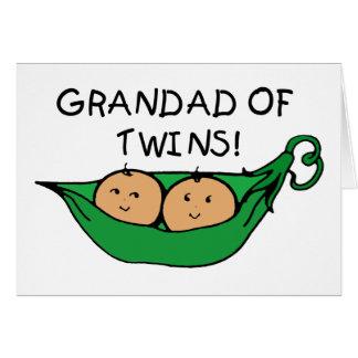 Grandad Twin Pod Greeting Card