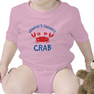 Grandads Favorite Crab (Grandchild) Baby Creeper