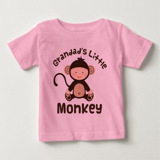 Grandads Little Monkey Baby T-Shirt