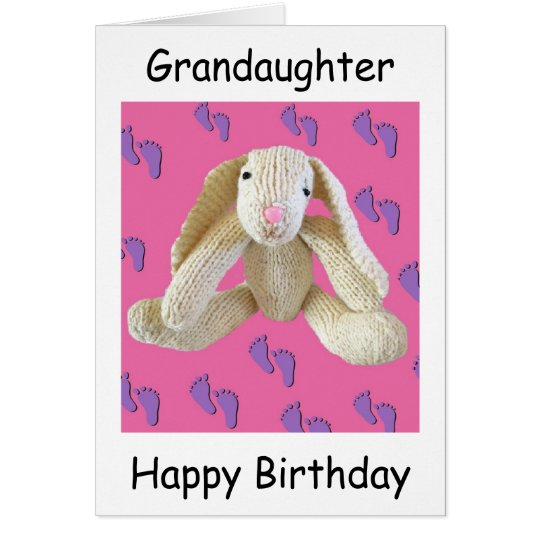 Grandaughter birthday bunny rabbit card