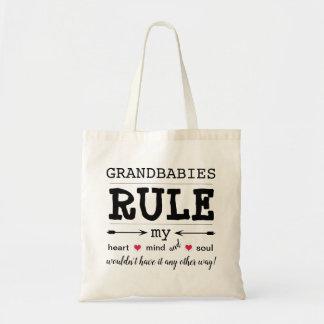 """Grandbabies Rule"" Budget Tote Bag"