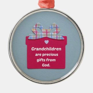 Grandchildren are Precious Gifts from God Christmas Ornament