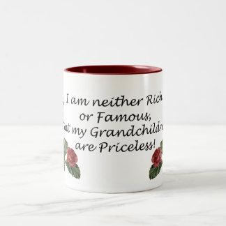Grandchildren are Priceless Two-Tone Mug