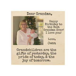 grandchildren birthday quote wood wall decor