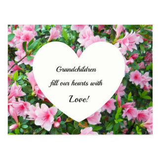 Grandchildren fill our hearts with love. postcard
