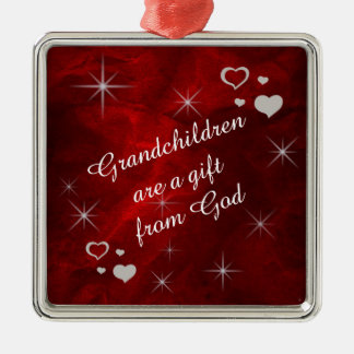 Grandchildren Star Heart Keepsake Christmas Tree Ornaments