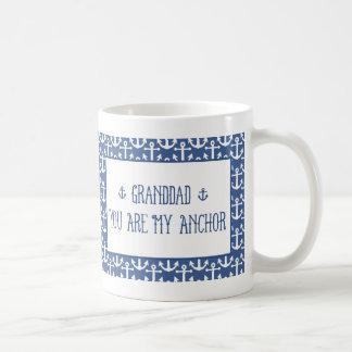 Granddad-You Are My Anchor Basic White Mug