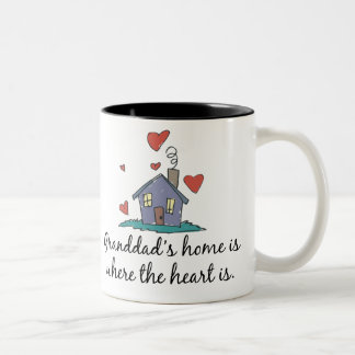 Granddad's Home is Where the Heart is Two-Tone Coffee Mug