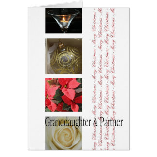 Granddaugher & Partner Merry Christmas Collage Greeting Card