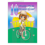 Granddaughter 10th Birthday Card with little girl