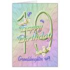 Granddaughter 19th Birthday Butterfly Garden Card