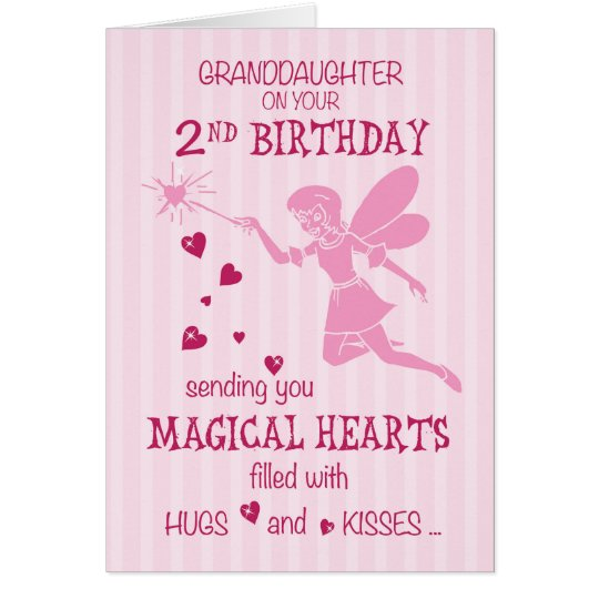 Granddaughter 2nd Birthday Magical Fairy Pink Card