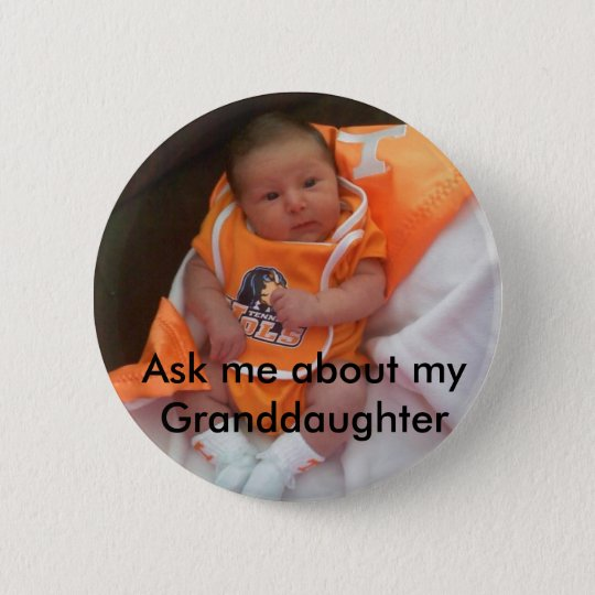 Granddaughter 6 Cm Round Badge