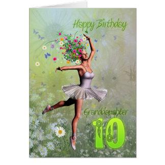 Granddaughter age 10, flower fairy birthday card
