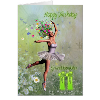 Granddaughter age 11, flower fairy birthday card