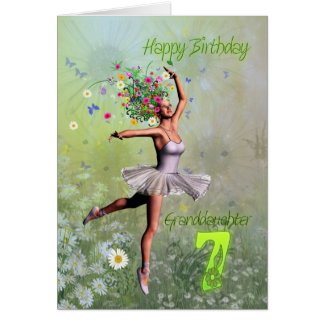 Granddaughter age 7, flower fairy birthday card