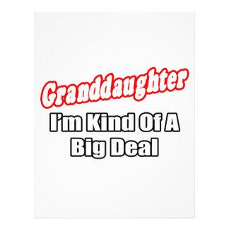 Granddaughter Big Deal Full Color Flyer