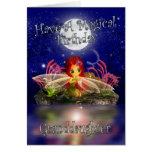 Granddaughter Birthday Card - Cute Little Fairy -