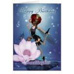 Granddaughter Birthday Card With Fantasy Water Fai
