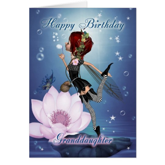 Granddaughter Birthday Card With Fantasy Water Fai