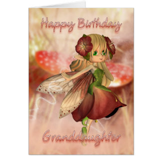 Granddaughter Birthday Card With Strawberry & Crea