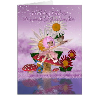 Granddaughter Birthday Card With Sugar Plum Fairy