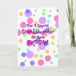 Granddaughter Birthday Customised Greeting Cardsbrdiv Classdesc