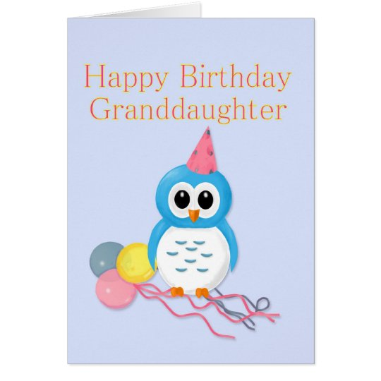 Granddaughter Birthday Cute Owl Card