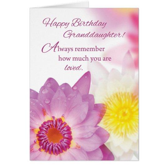 Granddaughter Birthday, Flowers, Religious Card