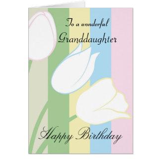 Granddaughter / Birthday - General - Pastel Floral Greeting Card