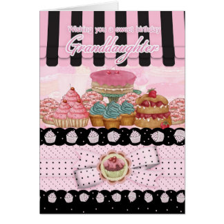 Granddaughter Cake Shop Birthday Greeting Card