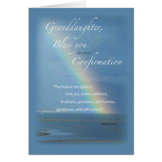 Granddaughter, Confirmation Rainbow Congratulation Card