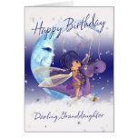 Granddaughter Cute Birthday card, purple dragon wi