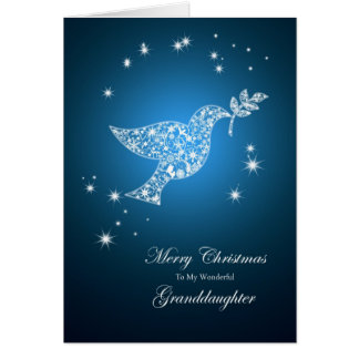 Granddaughter, Dove of peace Christmas card
